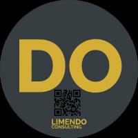LIMENDO DO Icon 200x200px mit QR-Code. The business model digitizer company. Wir bringen Sie sicher in die Zukunft.